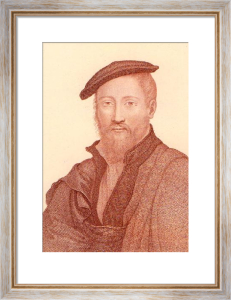 Holbien Heads - Plate 1X (Restrike Etching) by Hans Holbein The Younger