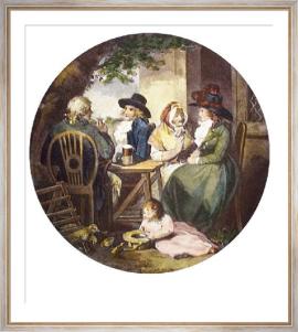 The Returned Visit (Restrike Etching) by George Morland