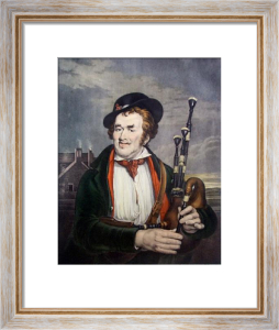 Irish Piper (Restrike Etching) by Anonymous