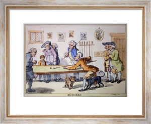 Billiards (Restrike Etching) by Bunbury