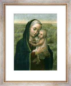 Madonna & Child (Restrike Etching) by Jan Hemling