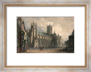 Canterbury Cathedral (Restrike Etching) by T.M. Baynes