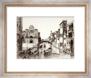 Rio de Merdicante, Venice (Restrike Etching) by Anonymous