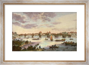 Hampton Court (Bridge over Thames) (Restrike Etching) by Anonymous