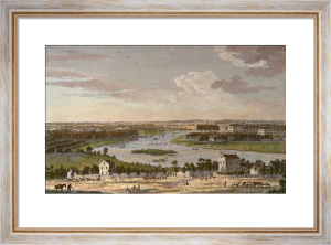 Richmond Hill, Up River (Restrike Etching) by Jolly