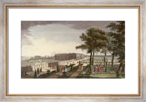 Hampton Court, Royal Palace (Restrike Etching) by Jacques Rigaud