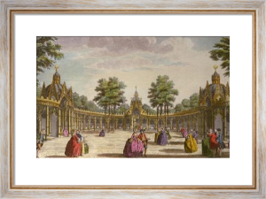 Chinese Pavilion Boxes, Vauxhall (Restrike Etching) by Wale