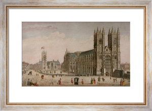 Westminster Abbey, NW Views (Restrike Etching) by Anonymous