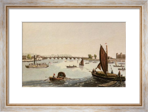 Vauxhall Bridge (Restrike Etching) by Robert Havell
