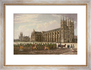 Westminster Abbey & St. Margarets (Restrike Etching) by Robert Havell