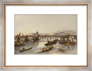 Blackfriars Bridge & St Pauls (Restrike Etching) by Robert Havell