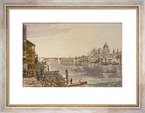 Southwark Bridge (View of) (Restrike Etching) by Robert Havell
