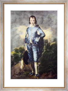 The Blue Boy (Restrike Etching) by Thomas Gainsborough