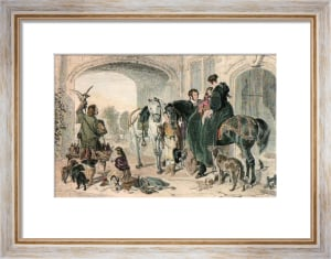 Return From Hawking (Small) (Restrike Etching) by Sir Edwin Henry Landseer