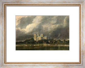 Ripon Minster on the River Skill (Restrike Etching) by Thomas Girtin
