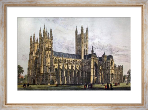 Canterbury Cathedral (Large) (Restrike Etching) by Anonymous