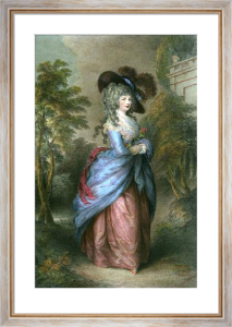 Georgina, Duchess of Devonshire (Restrike Etching) by Thomas Gainsborough