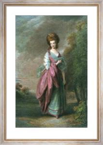 Mrs Beaufoy (Restrike Etching) by Thomas Gainsborough