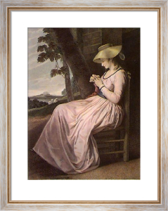The Seamstress (Restrike Etching) by George Romney