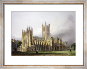 Canterbury Cathedral (Restrike Etching) by L.L. Raze