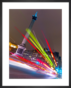 Bus Lights, Trafalgar Square, London by Assaf Frank