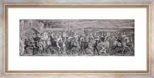 Chaucers Canterbury Pilgrims (Restrike Etching) by William Blake