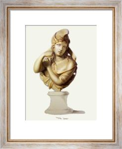 Bronze - Pl. XXXIV (Restrike Etching) by A. Tendi