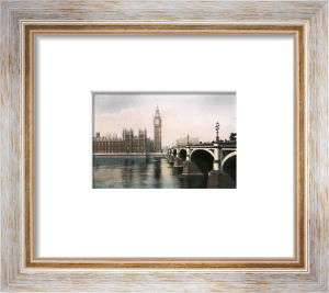 Houses of Parliament & Bridge (Restrike Etching) by Anonymous