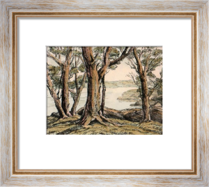 A Lakeside Wood (Restrike Etching) by Anonymous