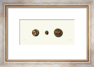 Coins (Three) (Restrike Etching) by Edward Henry Corbould