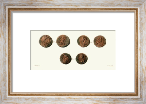 Coins (Six) (Restrike Etching) by Edward Henry Corbould