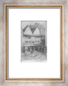 Nell Gwynnes Hse, Drury Lane (Restrike Etching) by Fabian
