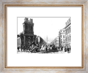 London, King William street (Restrike Etching) by Anonymous