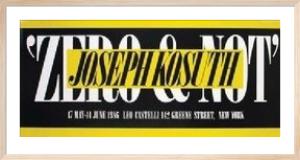 Zero & Not by Joseph Kosuth