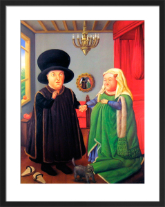 The Arnolfini by Fernando Botero
