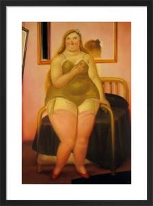 La Cama II by Fernando Botero