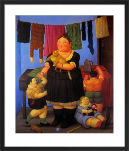 The Widow by Fernando Botero