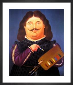 Portrait Of Velazquez by Fernando Botero