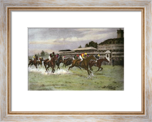 A Close Finish (Restrike Etching) by Wright
