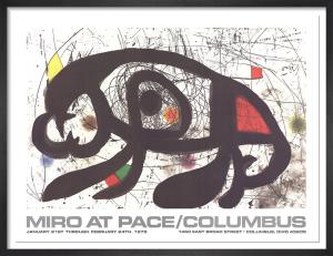 Joan Miro at Pace-Columbus 1979 (horizontal) by Joan Miro