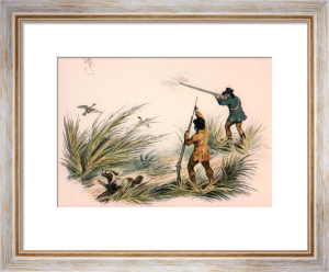 Duck Shooting - Plate II (Restrike Etching) by Anonymous