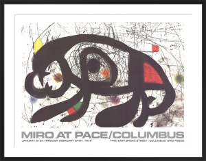 Joan Miro at Pace-Columbus 1979 (horizontal) by Joan Miro