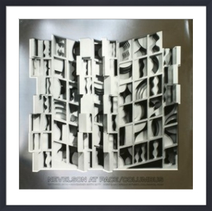 At Pace Columbus (silver) by Louise Nevelson