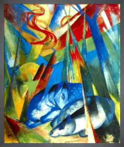 Resting Horses by Franz Marc