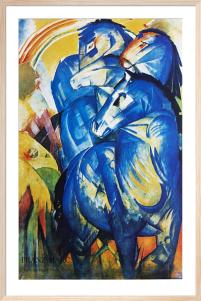 Der Turm der blauen Pferde by Franz Marc