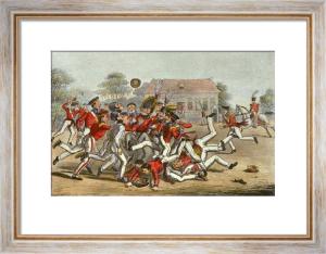 Football (Restrike Etching) by Robert Cruikshank