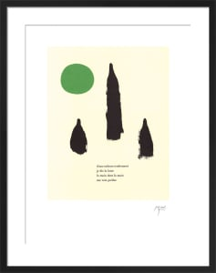 Illustrated Poems-'Parler Seul' VI by Joan Miro
