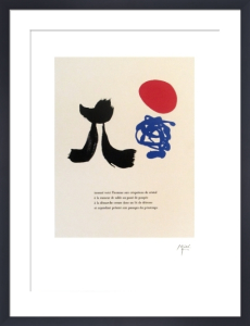 Illustrated Poems-'Parler Seul' VIII by Joan Miro