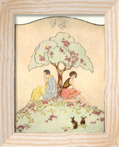 Under the Tree (Restrike Etching) by Anonymous