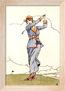 Golf (Art Deco) (Restrike Etching) by Terence Gilbert